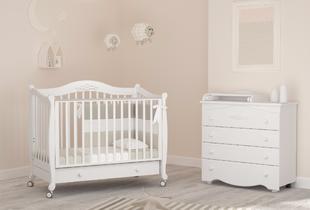 детские кроватки на колесиках