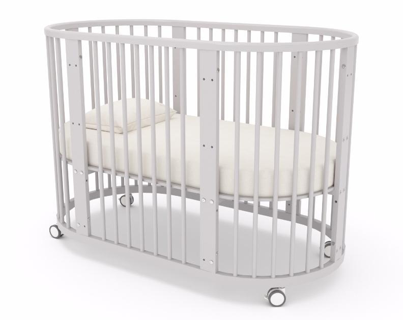 овальная детская кроватка с маятником